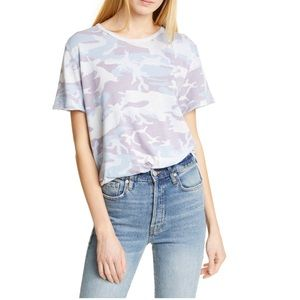 FREE PEOPLE camp shirt - sky combo camo